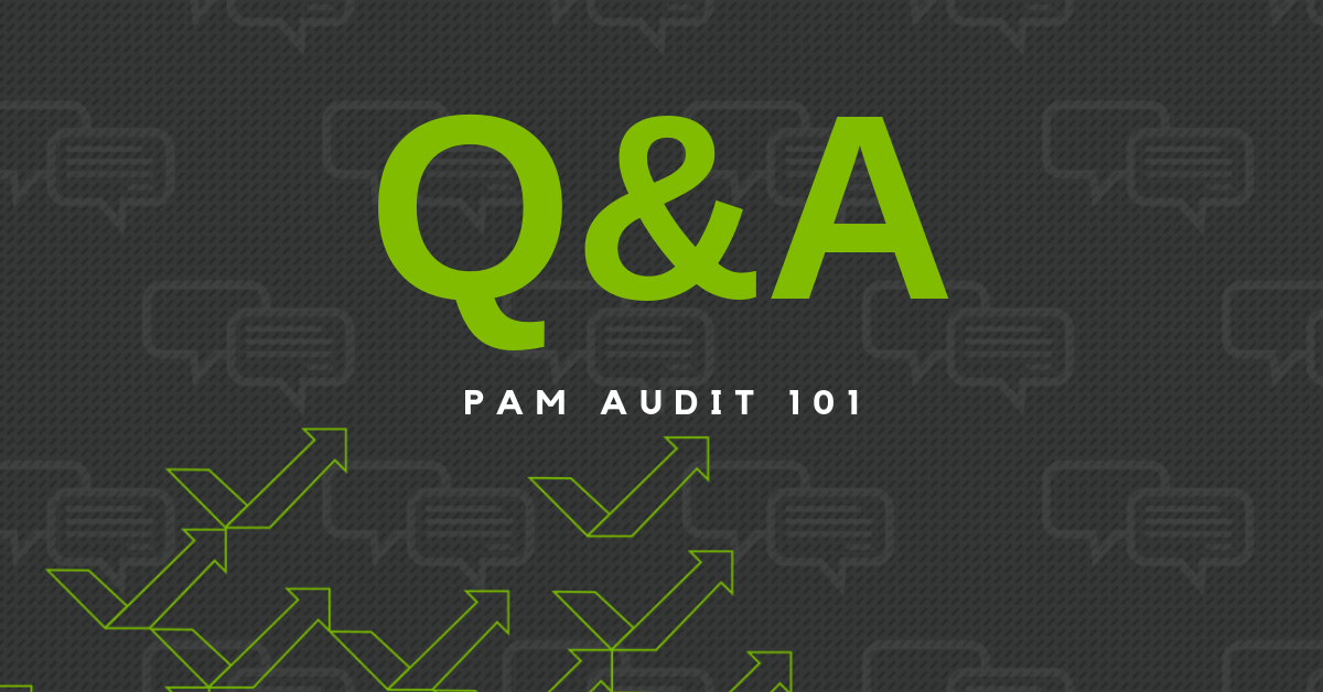 Q&A PAM Audit 101