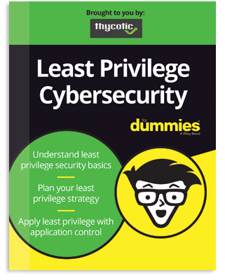 Least Privilege Cybersecurity for Dummies eBook Cover