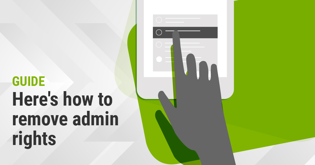 How to Remove Admin Rights Without Reducing Productivity