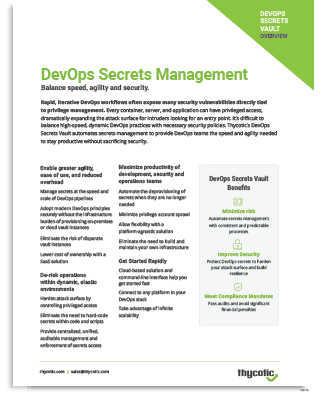 DevOps Secrets Management