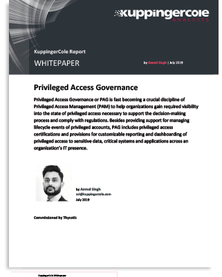 KuppingerCole Whitepaper: Privileged Access Governance