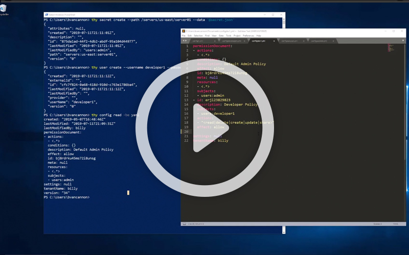 Demo Video: See what it's like to manage passwords at DevOps speed with DevOps Secrets Vault