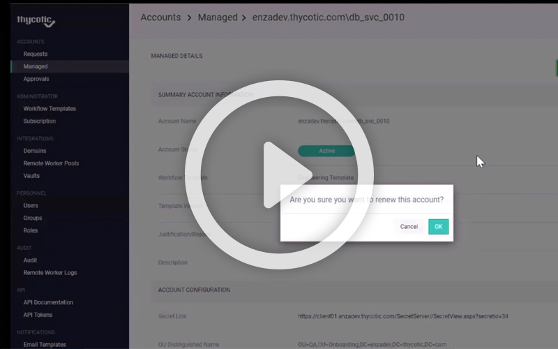Demo Video: See how easily you can manage and provision Service Accounts with Account Lifecycle Manager