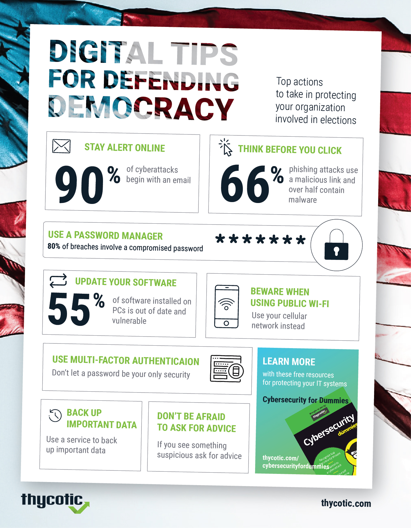 Infographic: Digital Tips for Defending Democracy