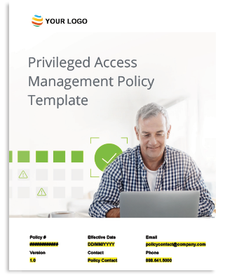 Privileged Access Management Policy Template Cover