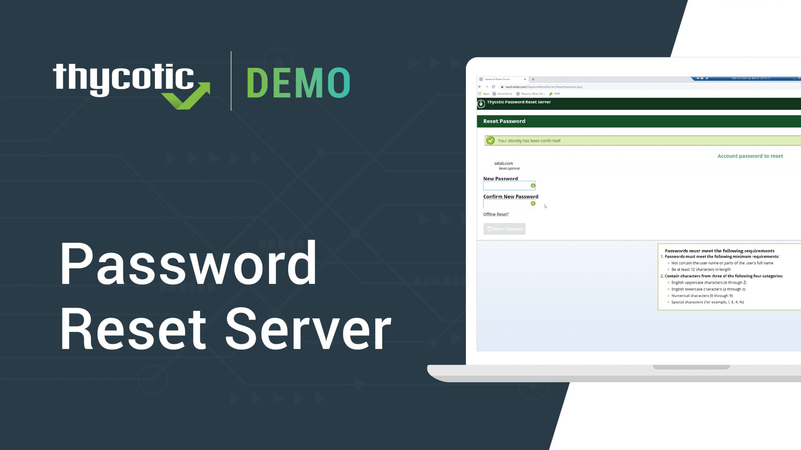 Password Reset Server – Full Demo