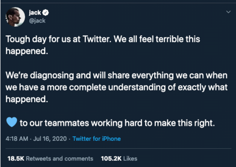 Response to Twitter Incident