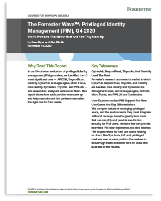 Forrester Wave™️: Privileged Identity Management (PIM), Q4 2020