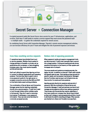 Secret Server and Connection Manager