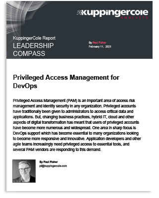 KuppingerCole Privileged Access Management for DevOps