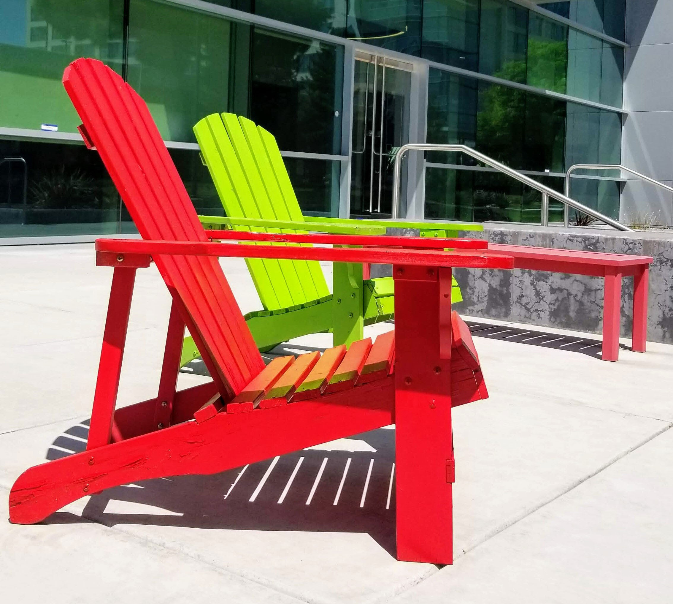 Red and Green Chair